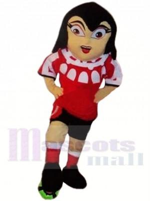 Fußballmädchen Maskottchen Kostüm