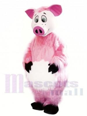 Schönes rosa Schwein Maskottchen Kostüm