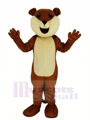 Braun Ollie Otter Maskottchen Kostüm Tier