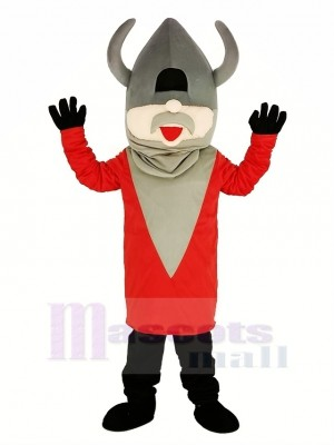 Madcap Wikinger mit rot Mantel Maskottchen Kostüm Menschen