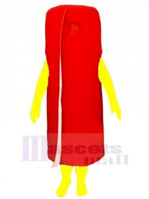 Komisch Gerollt rot Teppich Maskottchen Kostüm Karikatur