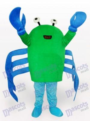 Grünes Krabben Karikatur erwachsenes Maskottchen Kostüm
