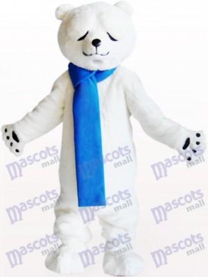 Eisbär mit verengten Augen Tier Maskottchen Kostüm