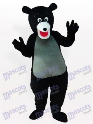 Übergewichtige Black Bear Tier Maskottchen Kostüm