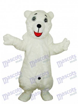 Weißes Eisbär Adult Maskottchen Kostüm Tier