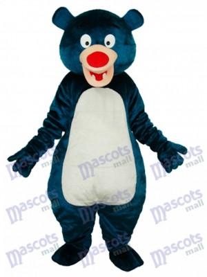 Maskottchen Kostüm Tier des blauen Bären