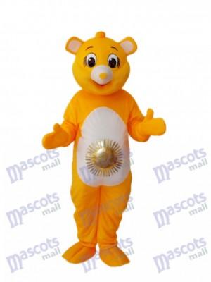 Yellow Sun Bear Maskottchen Erwachsene Kostüm Tier