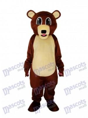 Große Augen Braunbär Maskottchen Erwachsene Kostüm Tier