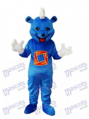 Blauer Bär Maskottchen Erwachsene Kostüm Tier