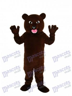 Schwarz Braunbär mit scharfen Zahn Maskottchen Kostüm Tier
