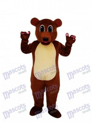 Goldener Braun bär Maskottchen Erwachsene Kostüm Tier