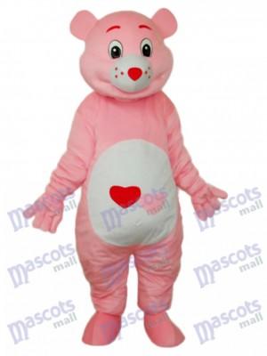 Bär mit rotem Herz Maskottchen Kostüm Tier