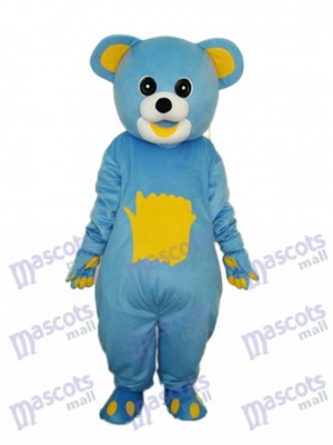 Gelb Belly Blue Bear Maskottchen Erwachsene Kostüm Tier