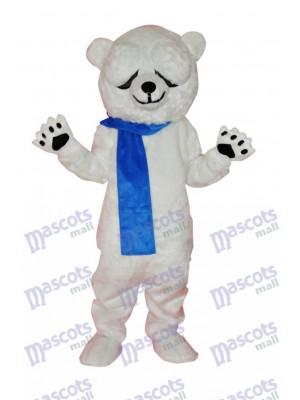 Netter Eisbär Adult Maskottchen Kostüm Tier