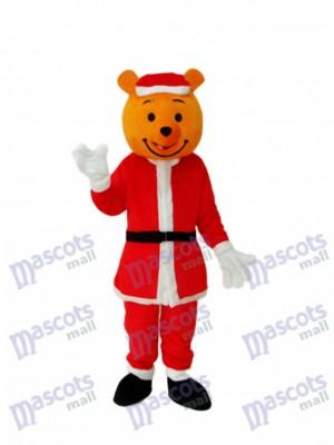 Gelb Weihnachtsbär Maskottchen Erwachsene Kostüm Tier