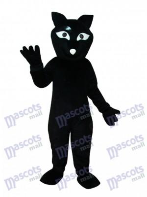 Schwarz Beaver Maskottchen Kostüm Tier