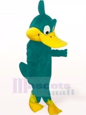 Ente mit Blaugrün KörperMaskottchen Kostüm Karikatur