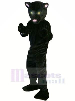 Schwarz Panther mit Lange Schwanz Maskottchen Kostüme Tier