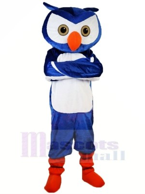 Blau Eule mit Orange Schuhe Maskottchen Kostüme Tier