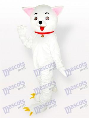 Rosa Ohren Kitty Katze Weiß Maskottchen Kostüm für Erwachsene