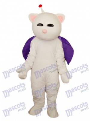 Rosa Nase Weiß Katze Maskottchen Erwachsene Kostüm Tier
