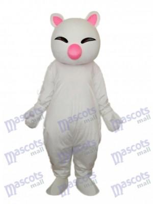 Große rosa Nase Weiß Katze Maskottchen Erwachsene Kostüm Tier