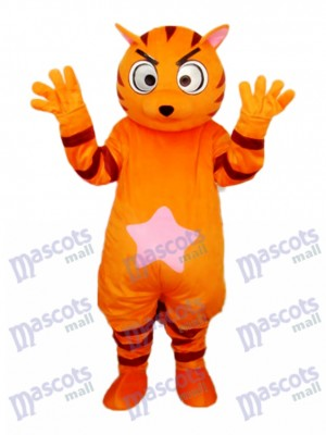 Orange Star Cat Maskottchen Adult Kostüm Tier