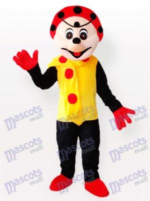 Fleckiger Clown im gelben Kleid Maskottchen Kostüm
