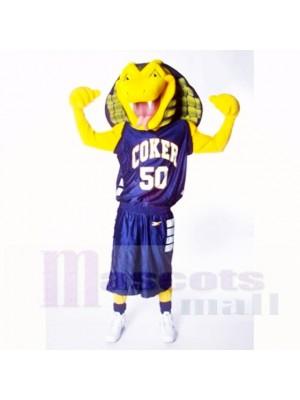 Sport Gelb Kobra Schlange Maskottchen Kostüme Karikatur