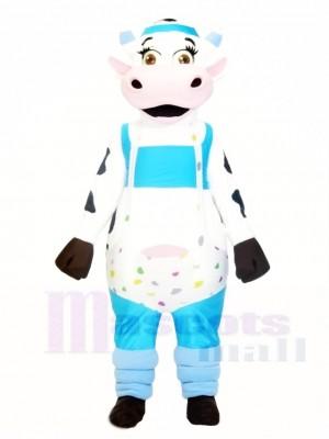 Kuh mit Overall Maskottchen Kostüme Tier