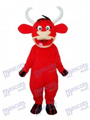 Kleine rote Kuh Maskottchen Erwachsene Kostüm Tier