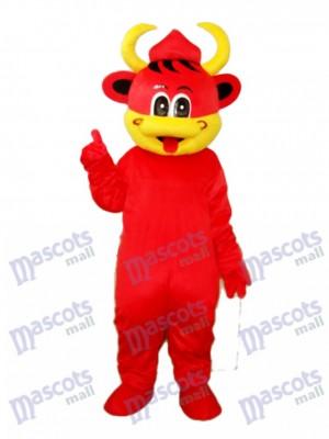 Gelbe Mund Rote Kuh Maskottchen Erwachsene Kostüm Tier