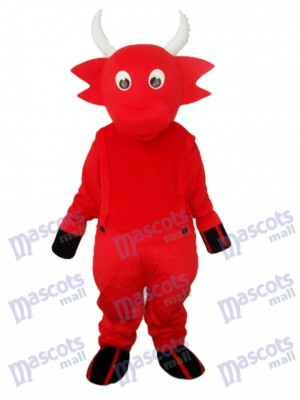 Red Cow Maskottchen Adult Kostüm Tier