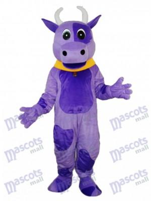 Lila Kuh Maskottchen Erwachsene Kostüm Tier