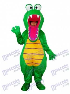 Öffnen Sie Mund Krokodil Maskottchen erwachsenes Kostüm Tier