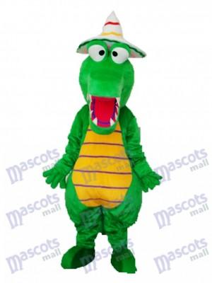 Krokodil mit Hut Maskottchen Erwachsene Kostüm Tier