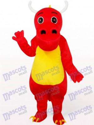 Dinosaurier in roter Kleidung Maskottchen Kostüm