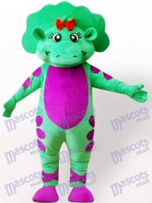 Grünes Dinosaurier Maskottchen Kostüm für Erwachsene