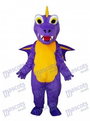 Lange Dorn Lila Dinosaurier Maskottchen Erwachsene Kostüm Tier