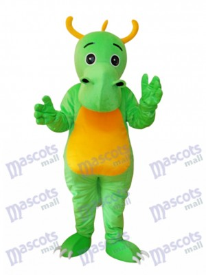 Big Nose Horned Green Dinosaurier Maskottchen Adult Kostüm Tier