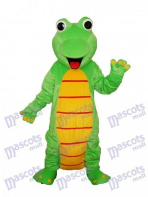 Glückliches Eidechsen Dinosaurier Maskottchen erwachsenes Kostüm Tier