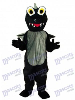 Schwarze Dinosaurier Maskottchen Erwachsene Kostüm Tier