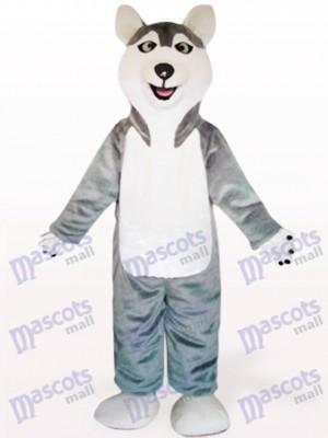 Grey Sled Wolf Hund Tier Maskottchen Kostüm