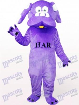 Hund in Lila Tierisches Maskottchen Kostüm