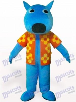 Blauer männlicher Hund Tier Maskottchen Kostüm