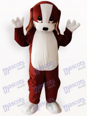 Brauner und weißer Hund Tier Maskottchen Kostüm