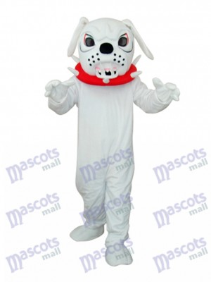Weiß Angry Hund Erwachsene Maskottchen Kostüm Tier