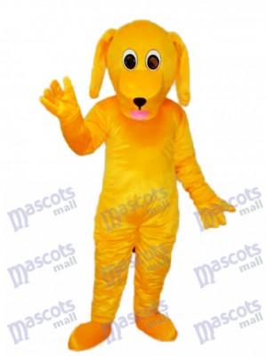 Gelber Hund Maskottchen Erwachsener Kostüm Tier