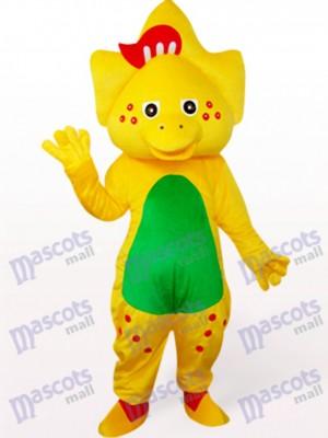 Stern Drache im Gelb Maskottchen Kostüme