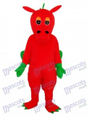 Red Dragon Maskottchen Adult Kostüm Tier
